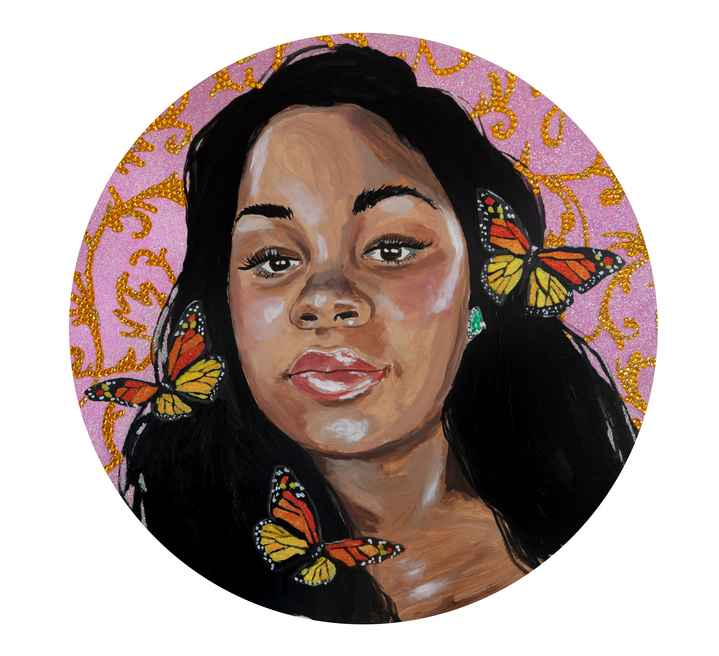 Breonna Taylor surrounded with butterflies