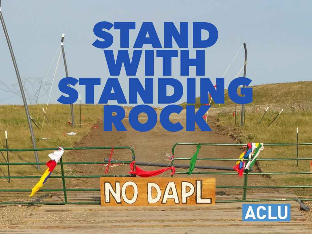 Stand With Standing Rock banner