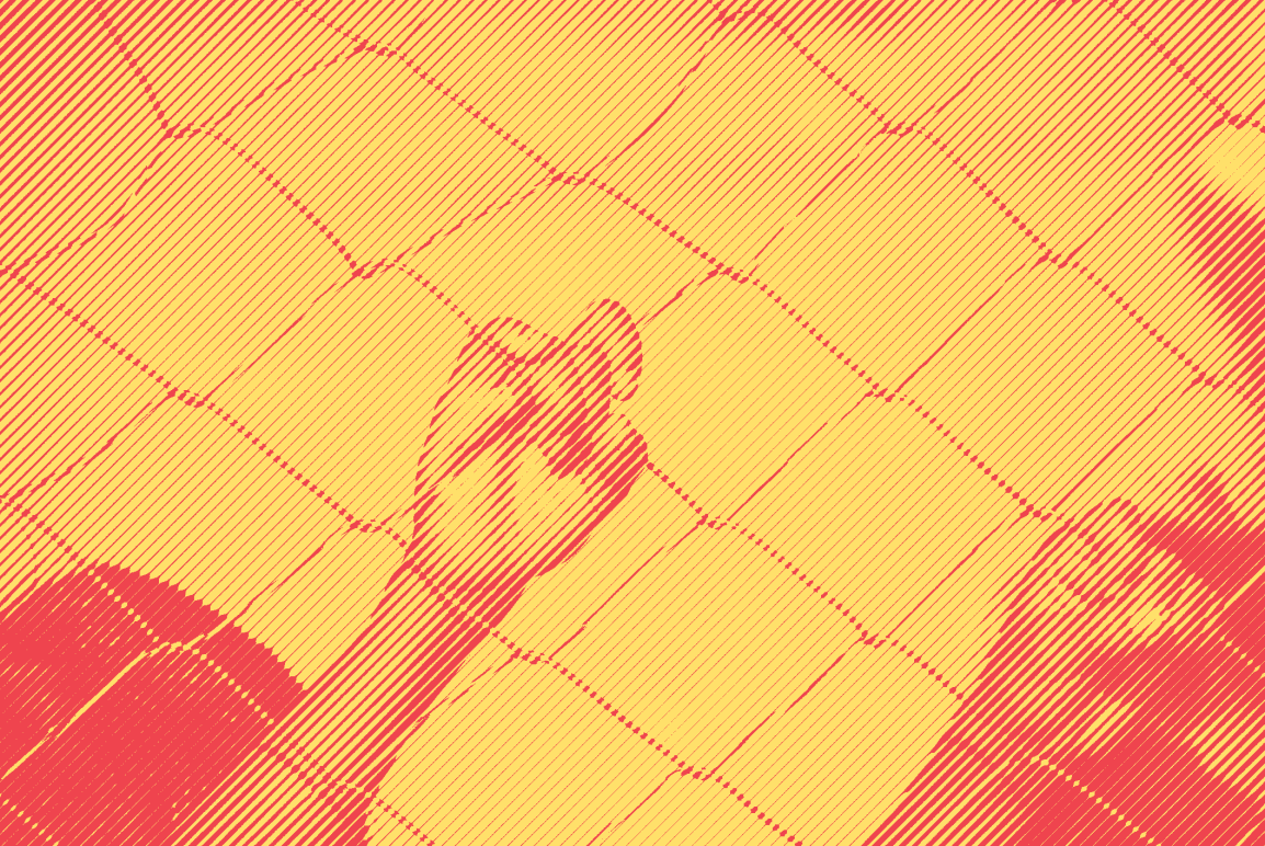 A child's hand on a chain link fence