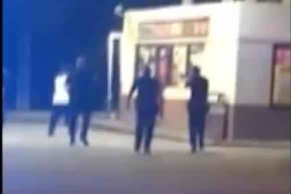 Grainy cell phone footage moments before Trayford Pellerin was killed by police