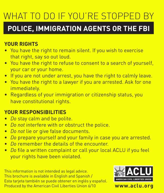 know your rights bust card cover