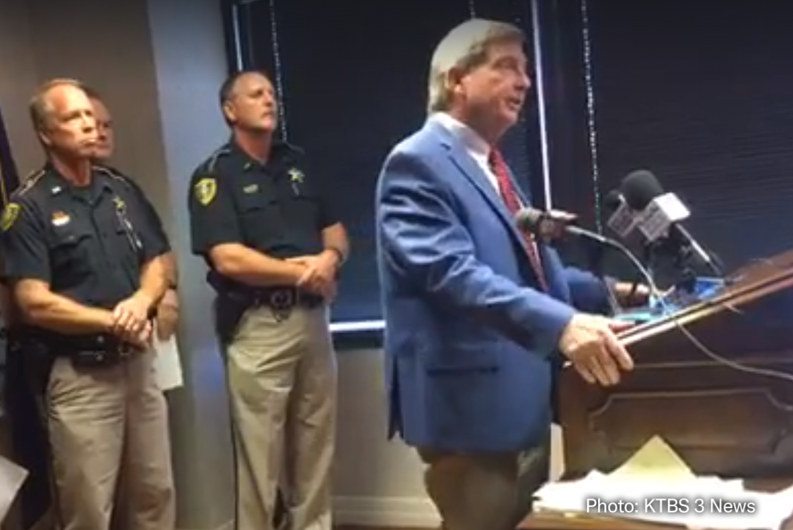 Caddo Parish Sheriff Steve Prator speaking at press conference 10/5/2017