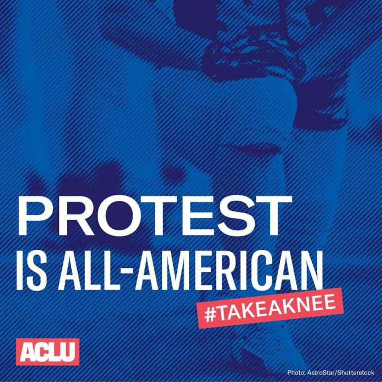 Protest is All-American #TakeAKnee