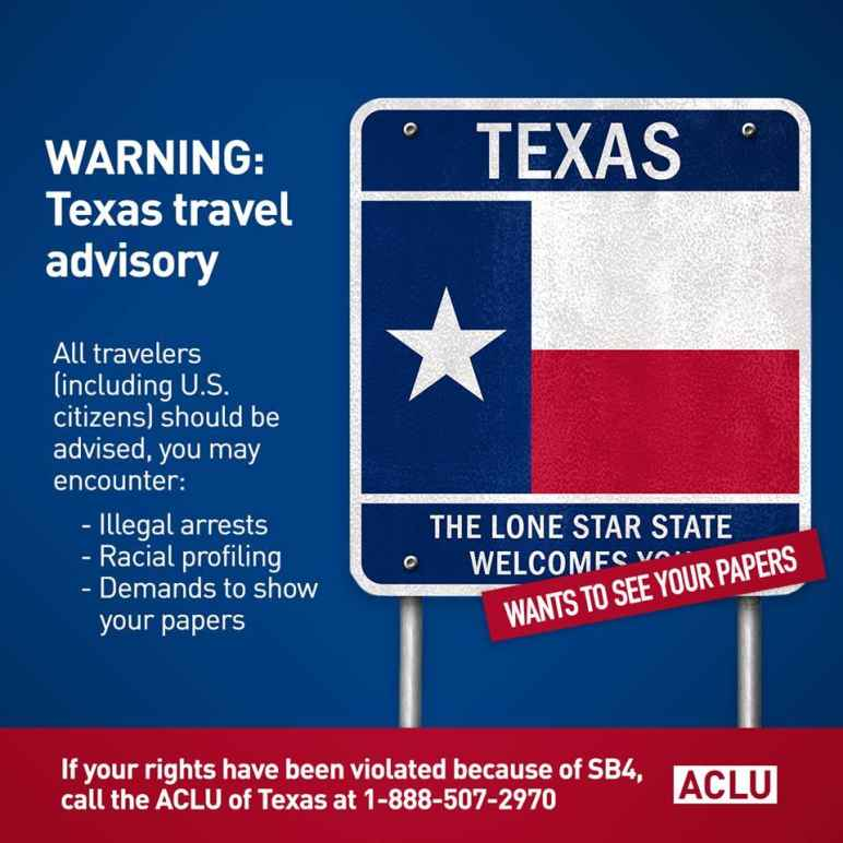 texas travel advisory graphic