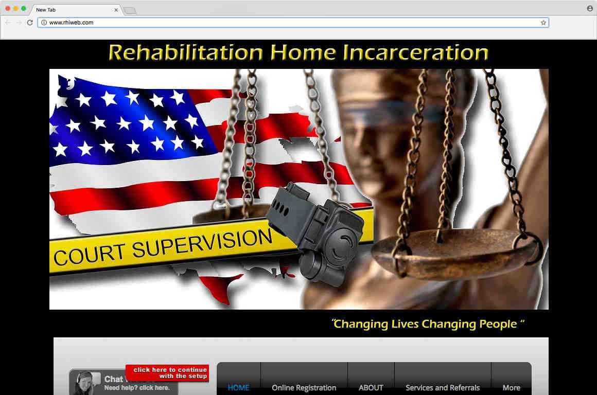 Screenshot of Rehabilitation Home Incarceration's website