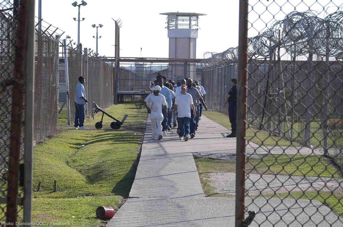 Men incarcerated at Angola prison