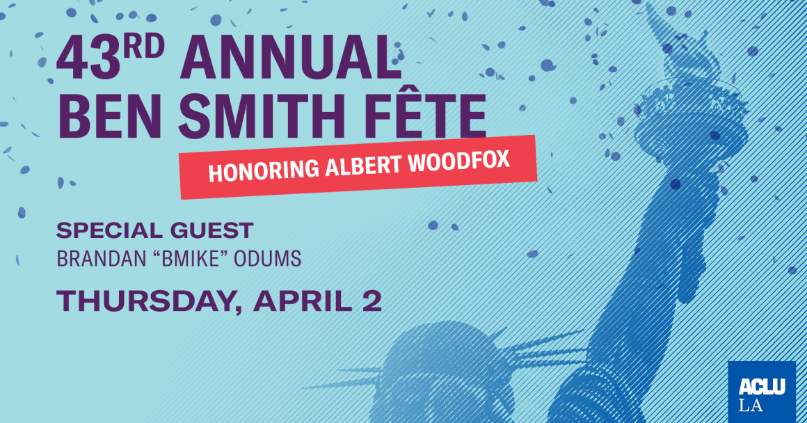"43rd Annual Ben Smith Fete Honoring Albert Woodfox with Special Guest Brandan ""BMIKE"" Odums: Thursday, April 2"