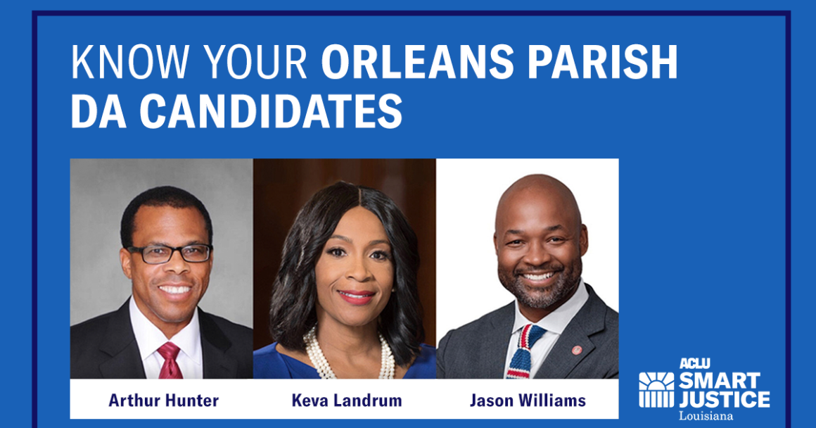 Know Your Orleans Parish DA Candidates: Arthur Hunter, Keva Landrum, Jason Williams