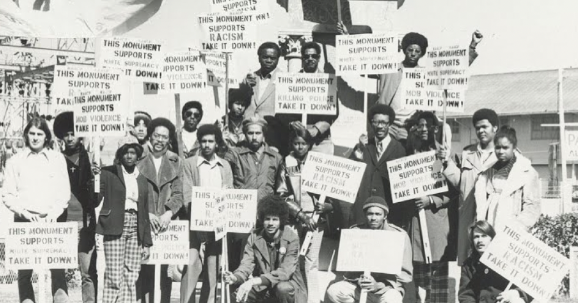 NAACP protest at Liberty Monument, New Orleans 1974